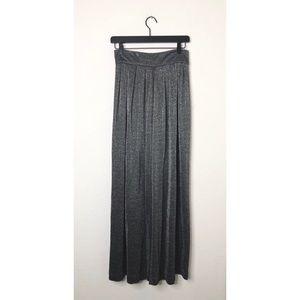 Carmen Marc Valvo Size 6 Silver Sparkle Dress Pant